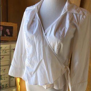 RAFAELLA  White Side Tie Blose🌹